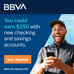 BBVA Checking $250 Bonus Offer