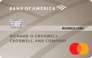 Bank of America Platinum Plus Mastercard Business card
