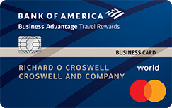 Bank of America Travel Rewards World MasterCard for Business