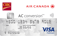 CIBC Air Canada AC conversion Visa* Prepaid Card