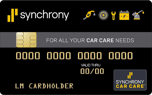 Synchrony Car Care™ credit card