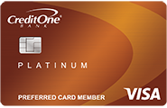 Apply online for Credit One Bank Platinum Visa with Cash Back Rewards