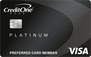 Credit One Platinum Visa with Free Monthly Credit Score Tracking