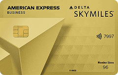 Gold Delta SkyMiles Business Credit Card from American Express OPEN