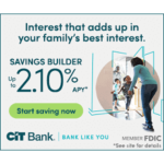 CIT 2.10% APY Savings Builder
