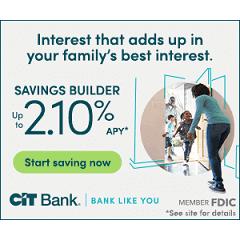 CIT 2.10% APY Savings Builder